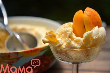 Смачне морозиво з йогурту з абрикосами