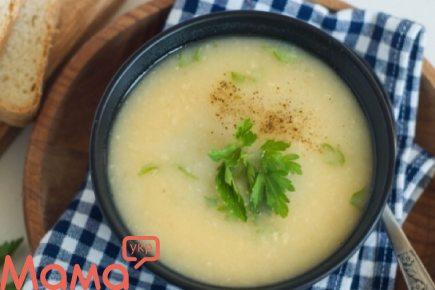 Живильний картопляний суп-пюре з бобами
