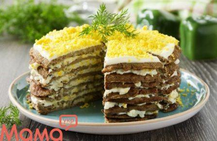 Закусочний торт печінковий
