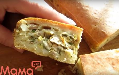 Ліниві курник — смачний пиріг для великої родини