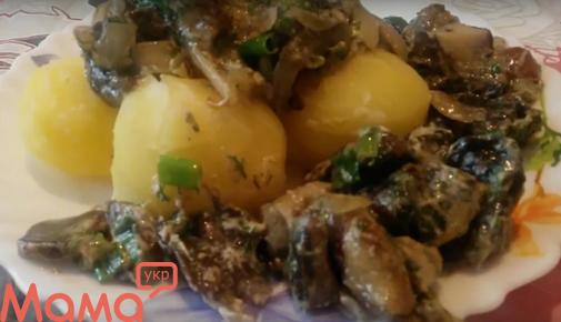 Аппетитнейшие грибочки зі сметаною