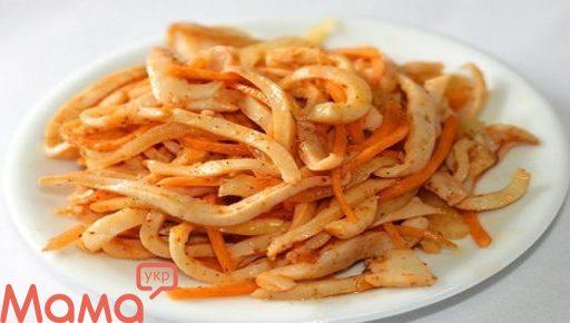 Салат «Кальмари по-корейськи»: смачна закуска