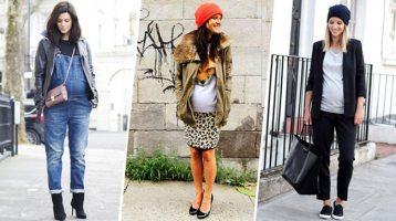 Кращі стильні образи для вагітних на холодну погоду