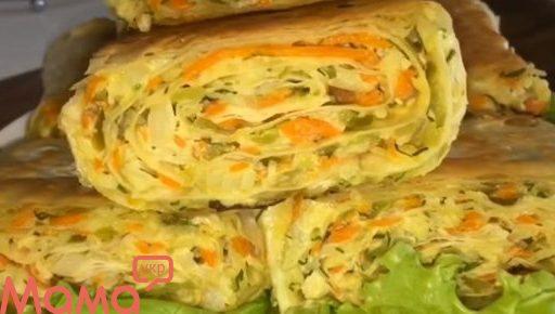 Закуска з лаваша з капустяної начинки: відкриті пиріжки на швидку руку