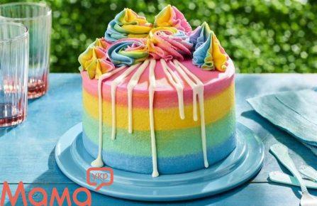 Незвичайний торт «Веселка» до дня матері