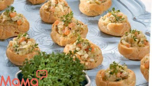 Профітролі з картопляним салатом