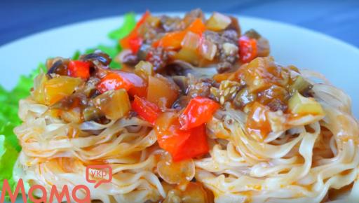 Смачна вечеря з доступних продуктів-макаронні гнізда з начинкою