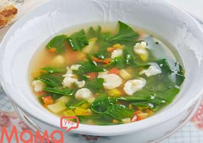 Легкий суп зі свіжих овочів