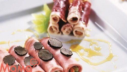 Рулети з мортаделлы з овочами і трюфелем