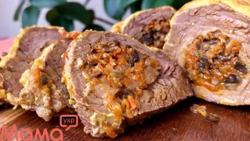 М'ясо, фаршироване грибами: обід для справжніх чоловіків