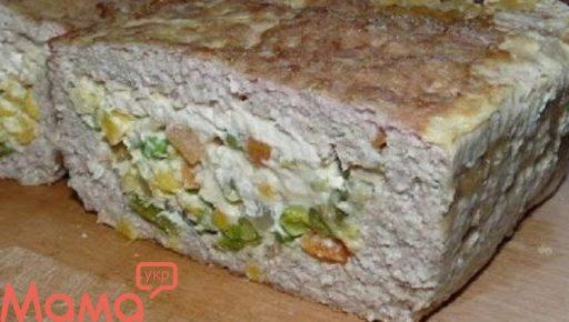 Дивовижний м'ясний хліб з начинкою