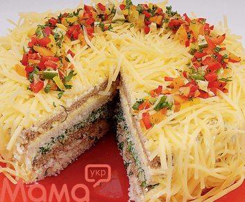 Закусочний торт сирний