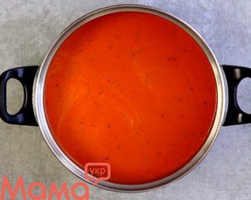 Чудово смачний суп-пюре з запеченого перцю