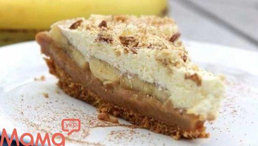 Банановий торт без випічки «Баноффи»