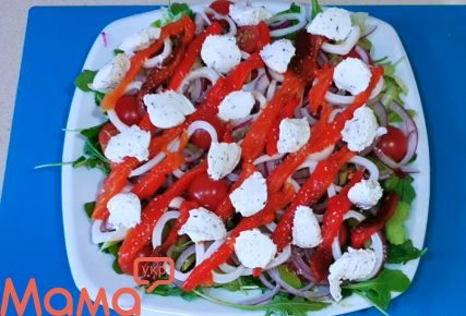 Цікавий салат з кальмаром і селерою