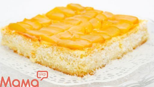 Торт сирно-персиковий